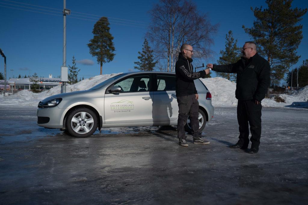 Sijaisauto oman auton korjauksen ajaksi käyttöön Sailokoskelta Ylivieskasta